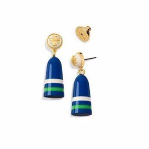 NWT Tory Burch Blue Buoy Drop Earrings